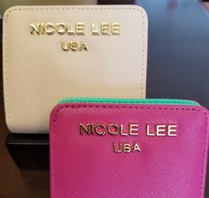 NWOT Nicole Lee mini bifold wallets